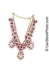 hermoso, hechaa mano, necklace.