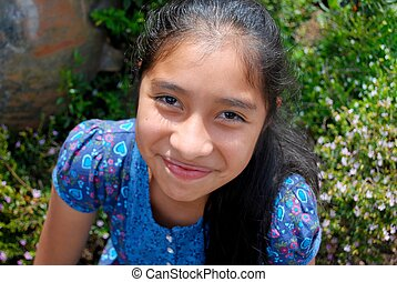 hermoso, hispano, niña