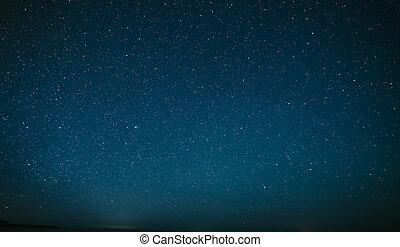 hermoso, imagen, cielo, simple, estrellado