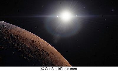 hermoso, imagen, planetas, espacio