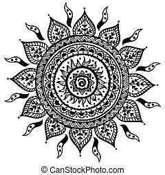 hermoso, indio, ornamento