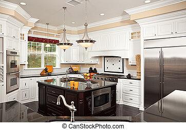 hermoso, interior, costumbre, cocina