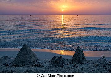 hermoso, isla, mallorca, salida del sol