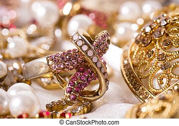 hermoso, joyas, plano de fondo