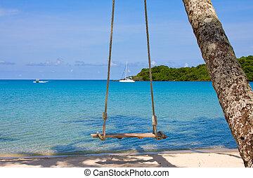 hermoso, koh, kood, tropical, tailandia, playa