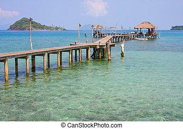 hermoso, koh, tropical, tailandia, mak, playa