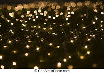 hermoso, luces, feriado, efectos, navidad