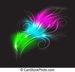 hermoso, luminescencia, plumelet.