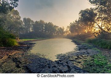 hermoso, místico, paisaje