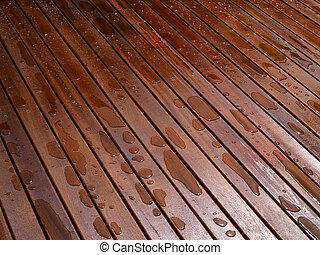 hermoso, mahogny, piso madera dura