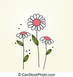 hermoso, margarita de flor, fondo