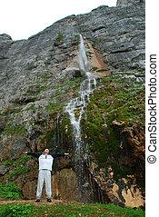 hermoso, montaña, norteño, esto, foto, junio, paisaje, 2009., rusia, caucasia., ¿?