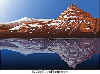 hermoso, montaña, plano de fondo