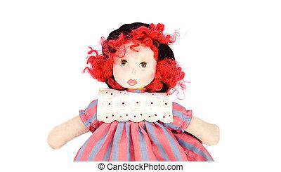 hermoso, muñeca del trapo
