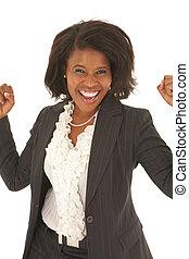 hermoso, mujer de negocios, africano