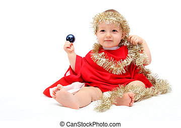 hermoso, navidad, bebé