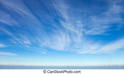hermoso, nubes, cirro