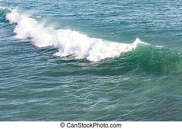 hermoso, océano azul, onda