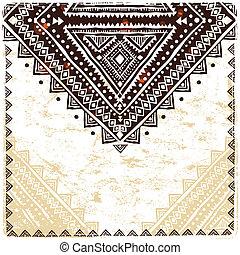 hermoso, ornamento, étnico