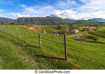 hermoso, paisaje, noruega