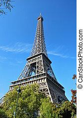 hermoso, parís, torre, eiffel, foto