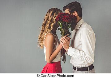 hermoso, pareja, romántico
