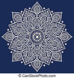 hermoso, patrón floral