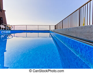 hermoso, piscina, instalación
