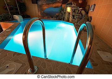 hermoso, piscina