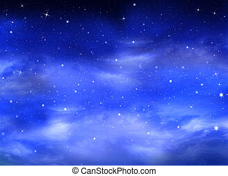 hermoso, plano de fondo, nightly, cielo