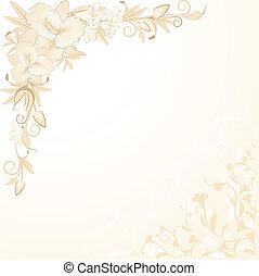 hermoso, plano de fondo, orquídea