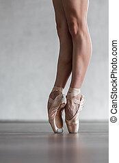hermoso, posar, bailarín, estudio, joven