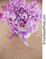 hermoso, ramo, lila