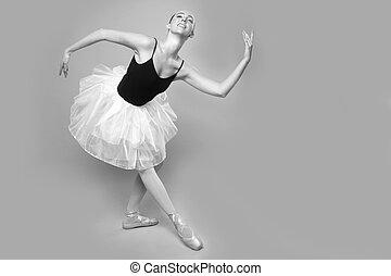 hermoso, retrato, bailarín de ballet clásico