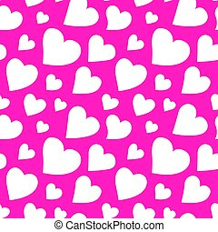 hermoso, rosa, patrón, con, corazones