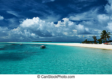 hermoso, sandspit, maldivas, playa