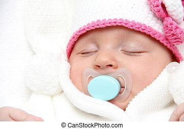 hermoso, sueño, bebé