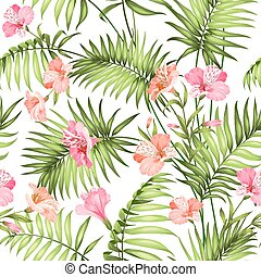 hermoso, tropical, flowers.