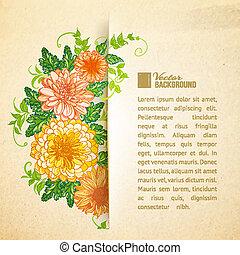 hermoso, verano, flowers., guirnalda