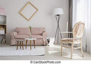 hermoso, vida, sofisticado, idea, habitación