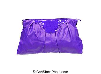hermoso, violeta, maquillaje, (cosmetics), bolsa, aislado,...