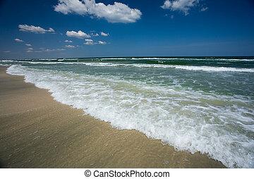 hermoso, vista marina