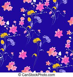 hermoso, wildflowers, ramo, patrón