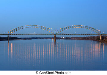 Hernando de Soto Bridge - I-40 Interstate through Hernando ...