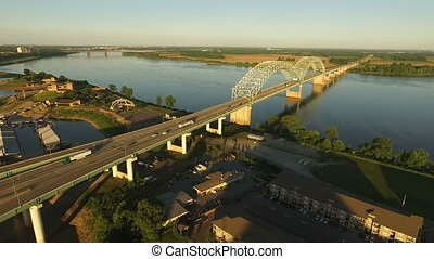 This bridge spans the Mississippi River from Memphis, Tennessee to West Memphis, Arkansas