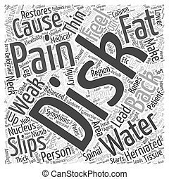 Herniated Disk and Back Pain Word Cloud Concept