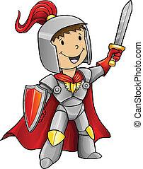 Hero Knight Vector Illustration