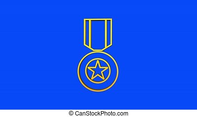 Hero of the Soviet Union gold star award. Motion graphics.
