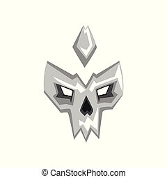 Hero or villain mask vector Illustration on a white background
