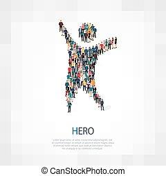 hero people crowd